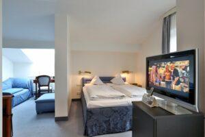 Doppelzimmer Deluxe Schlafbereich Hotel Mürz