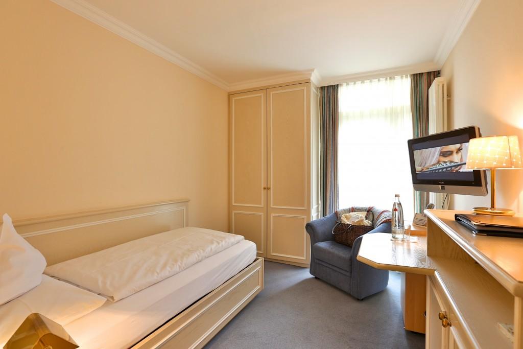 Einzelzimmer Standard Einrichtung Hotel Mürz
