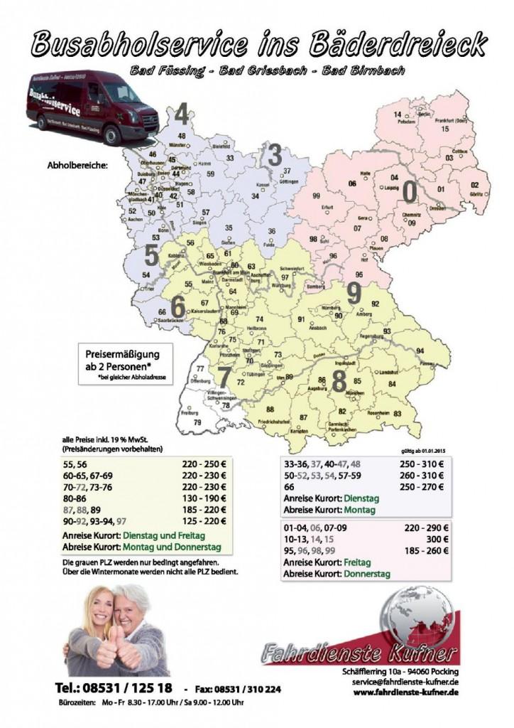 Karte Busabholservice Hotel Mürz