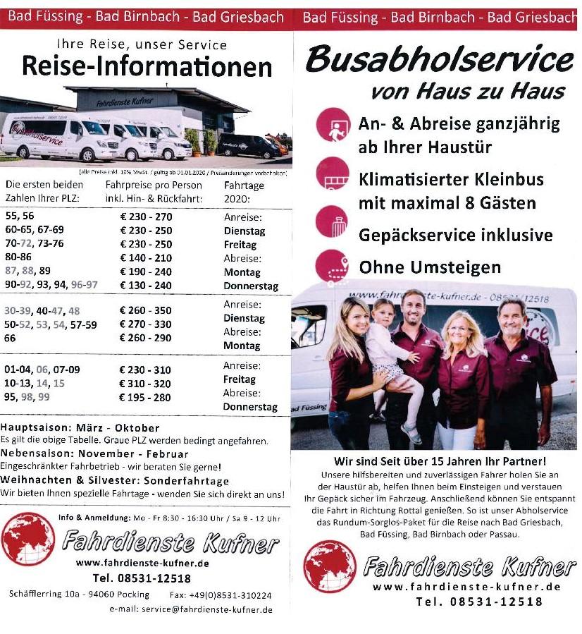 Fahrdienst Kufner Information